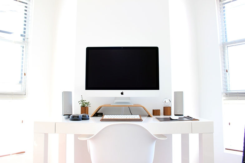 In her uncluttered office, Mary can concentrate and work effectively.  The only accommodation she needs to make is to increase the spacing between words on her computer.