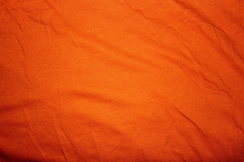 I help a long piece of orange fabric about six inches from Sammy's face, being careful that it didn't touch him.  Almost instantly his eyes, which had previously showed no purposeful gaze, alerted and tracked across about a foot of the fabric.