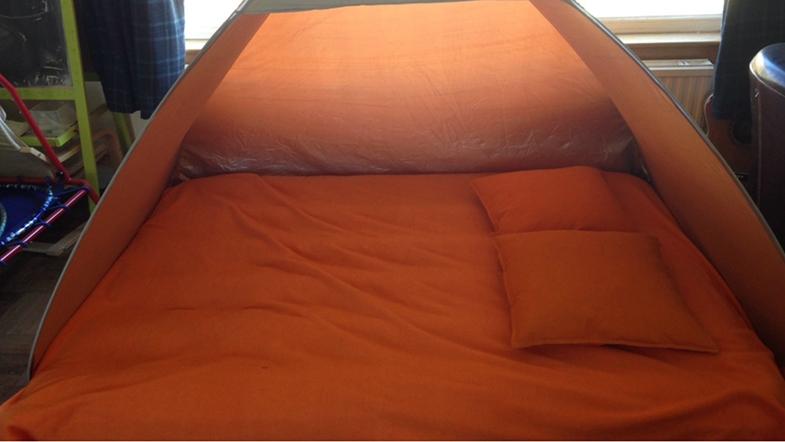 Give the brain a break in a tent.