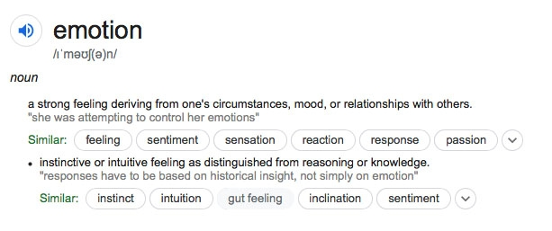 Emotion: Dictionary Definition