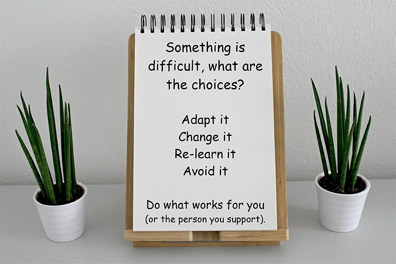 With an understanding of the cause of difficulties you can make an informed decision.