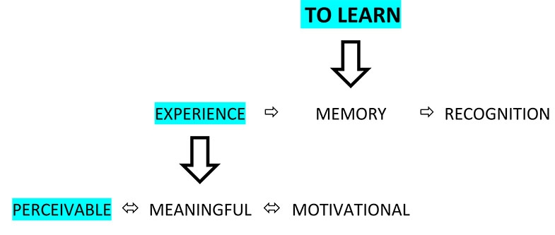 Here might lie the problem and solution.  To learn, an experience needs to be clearly perceivable, if it is not, then learning becomes more difficult, and sometimes impossible.