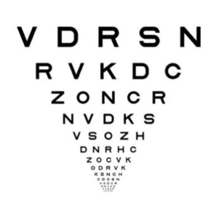 sight test card