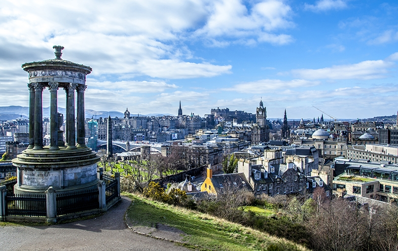 Vista de la ciudad de Edimburgo