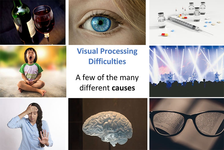 A short explanation of why terms like 'visual processing difficulties' without understanding what they are or what they affect, tell us very little.