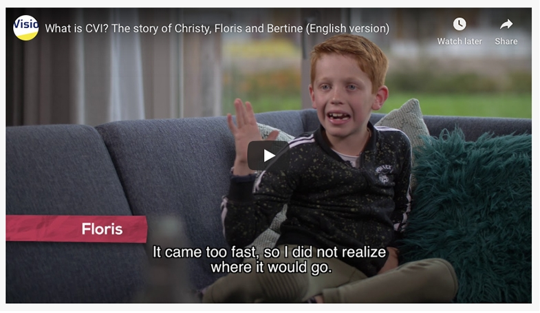 A great 9 minute film with English subtitles, explaining both the experience and challenges of CVI through the world of three young people.