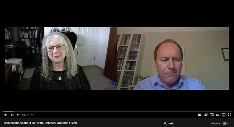 Over the lock-down period our advisor, Professor John Ravenscroft, has created a video series called Conversations about CVI. Meet some of the people you may well have heard about through these light and friendly, but extremely informative conversations.