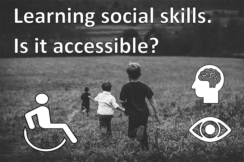 The labels are often a result of learning not being accessible for different reasons due to a visual impairment. Wheelchair users have further physical accessibility needs, and learning is not just in school but also home and play.