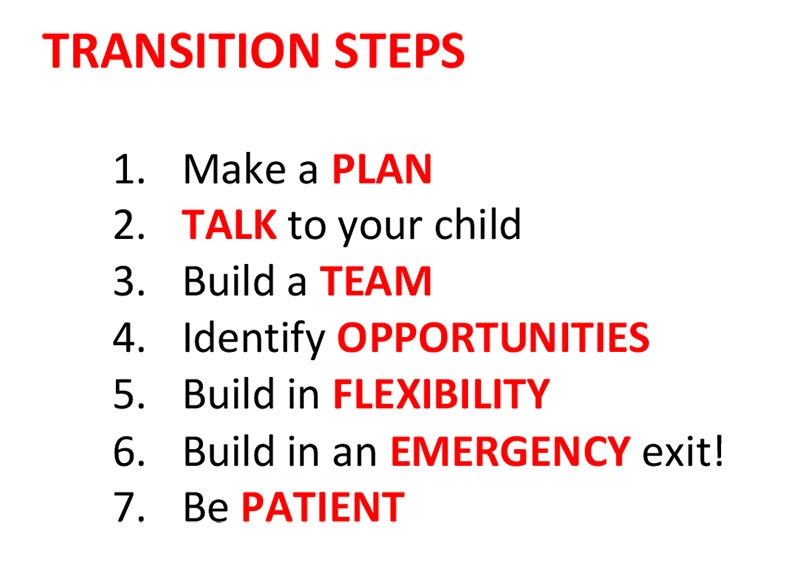 A step by step guide with template to plan in detail returning to school for children with CVI.