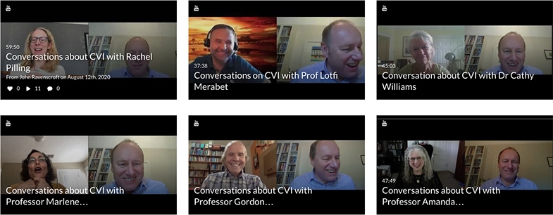 Professor John Ravenscroft's series of video discussions with many familiar people from the CVI world.